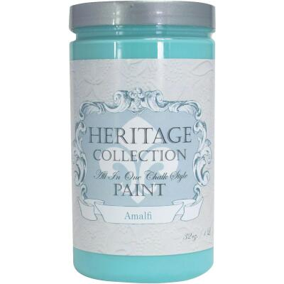 Heirloom Traditions Heritage Collection All-In-One Chalk Style Paint, Amalfi, 1 Qt.