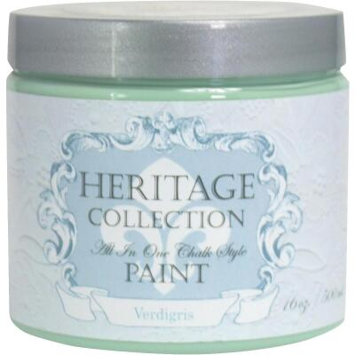Heirloom Traditions Heritage Collection All-In-One Chalk Style Paint, Verdigris, 1 Pt.