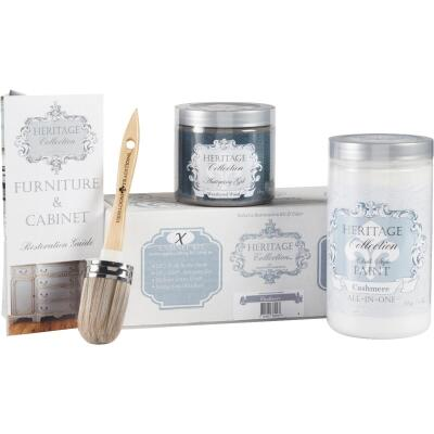 Heirloom Traditions Heritage Collection Chalk Paint Cabinet Restoration Kit, Cashmere