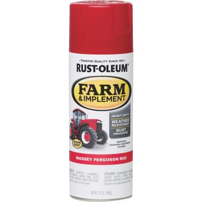 Rust-Oleum 12 Oz. Massey Ferguson Red Farm & Implement Spray Paint