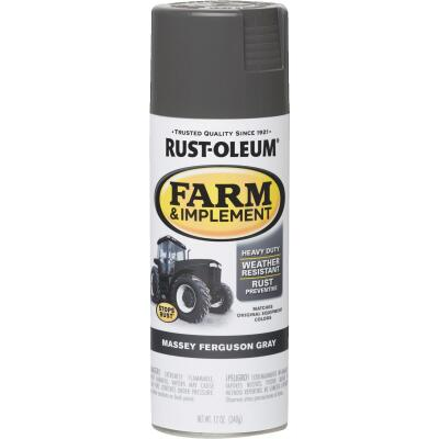 Rust-Oleum 12 Oz. Massey Ferguson Gray Farm & Implement Spray Paint