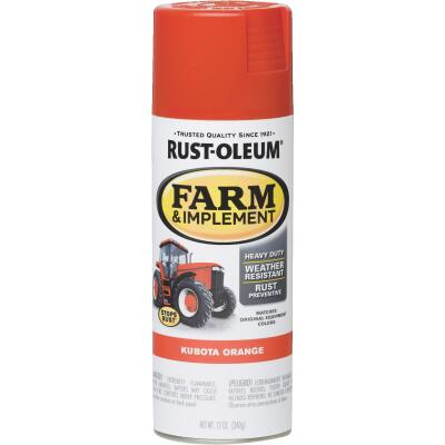 Rust-Oleum 12 Oz. Kubota Orange Farm & Implement Spray Paint