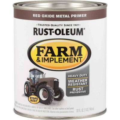 Rust-Oleum 1 Quart Red Oxide Metal Primer Gloss Farm & Implement Enamel