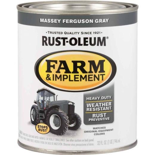 Rust-Oleum 1 Quart Massey Ferguson Gray Gloss Farm & Implement Enamel