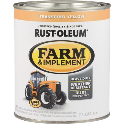 Rust-Oleum 1 Quart Transport Yellow Gloss Farm & Implement Enamel