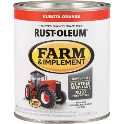 Rust-Oleum 1 Quart Kubota Orange Gloss Farm & Implement Enamel