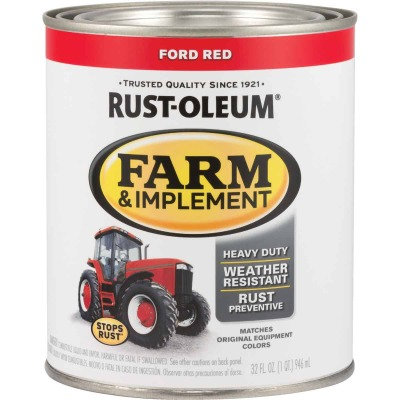 Rust-Oleum 1 Quart Ford Red Gloss Farm & Implement Enamel