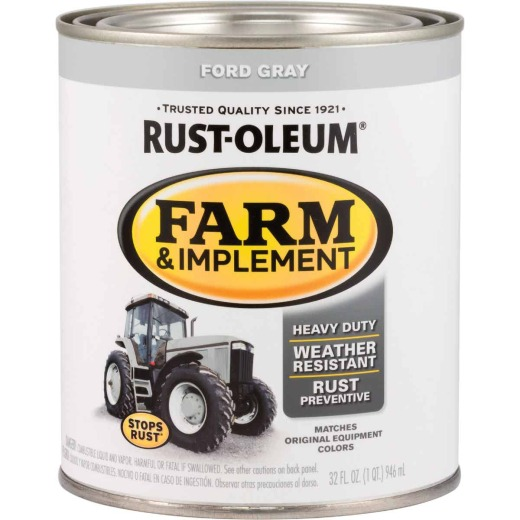 Rust-Oleum 1 Quart Ford Gray Gloss Farm & Implement Enamel