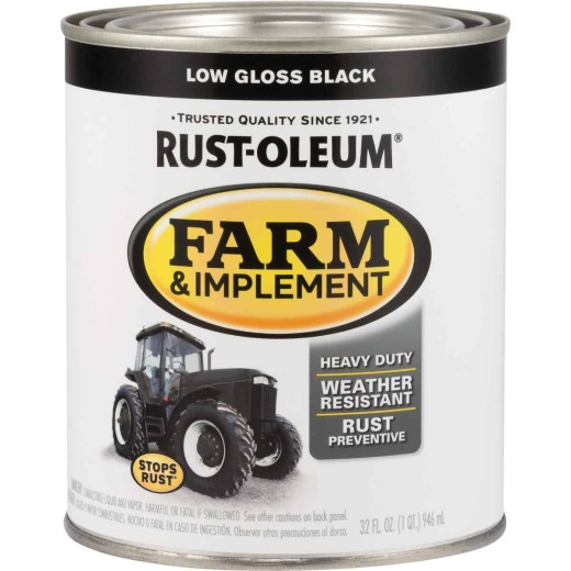 Rust-Oleum 1 Quart Black Low Gloss Farm & Implement Enamel