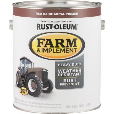 Rust-Oleum 1 Gallon Red Oxide Metal Primer Gloss Farm & Implement Enamel