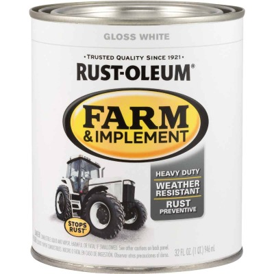 Rust-Oleum 1 Quart White Gloss Farm & Implement Enamel