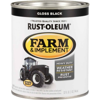 Rust-Oleum 1 Quart Black Gloss Farm & Implement Enamel
