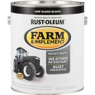 Rust-Oleum 1 Gallon Black Low Gloss Farm & Implement Enamel