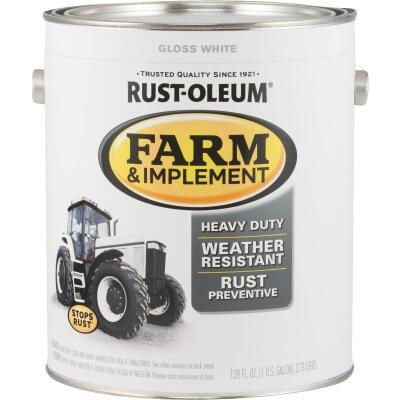 Rust-Oleum 1 Gallon White Gloss Farm & Implement Enamel