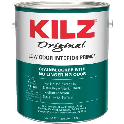 Kilz Odorless Oil-Based Interior Primer Sealer Stainblocker, White, 1 Gal.
