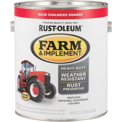 Rust-Oleum 1 Gallon Allis Chalmers Orange Gloss Farm & Implement Enamel