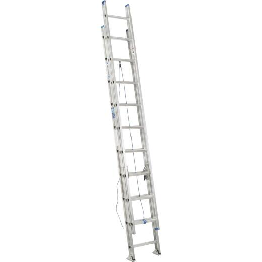 Werner 20 Ft. Aluminum Extension Ladder with 250 Lb. Load Capacity Type I Duty Rating