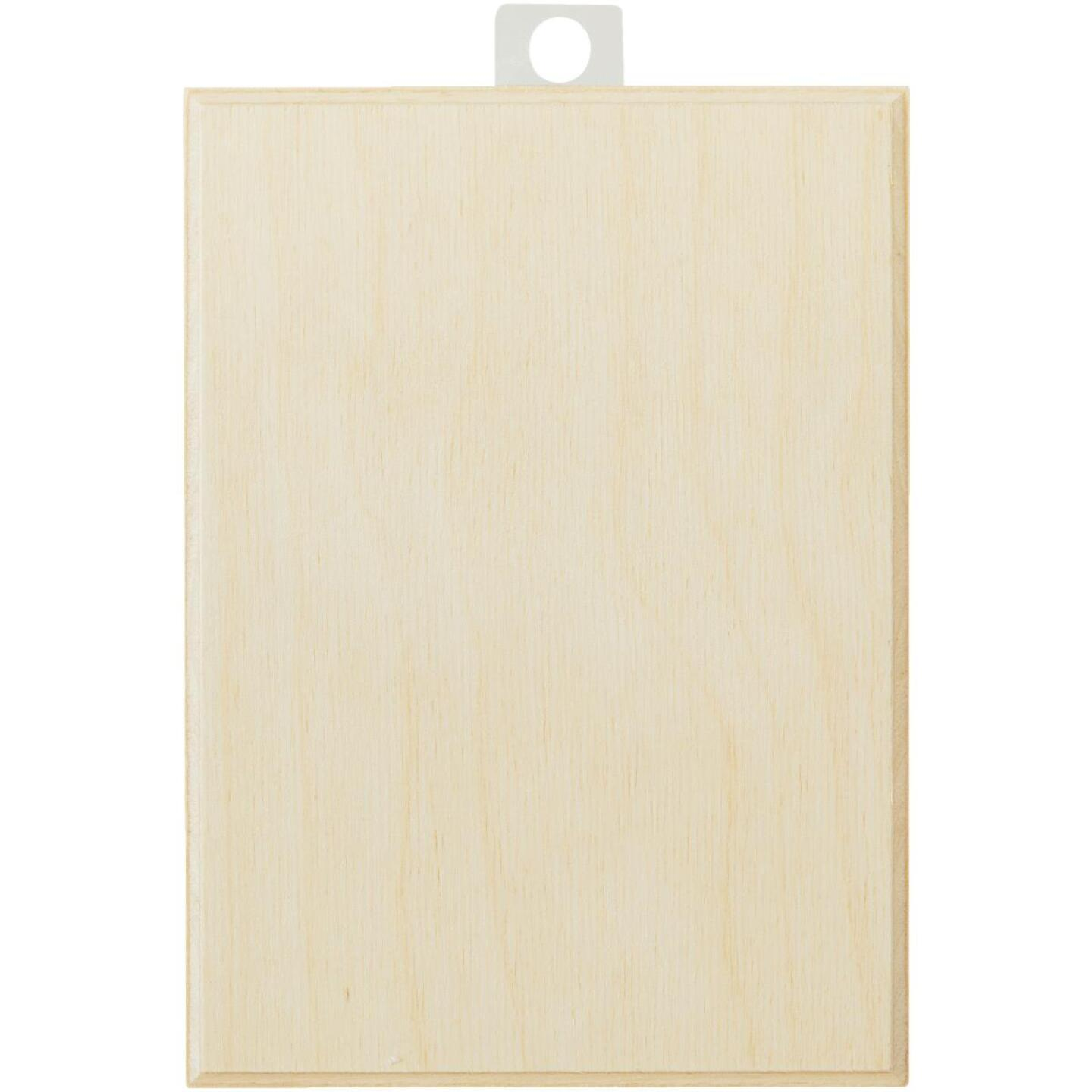 Walnut Hollow 5.25 In. x 7.25 In. Rectangular Unfinished Wood Plaque Image 2