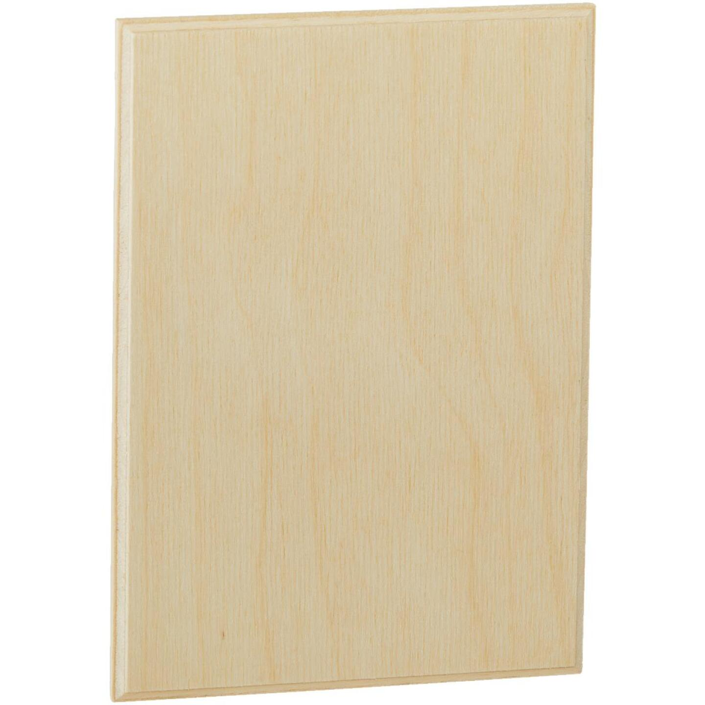 Walnut Hollow 5.25 In. x 7.25 In. Rectangular Unfinished Wood Plaque Image 1