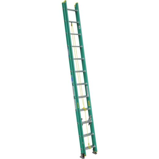 Werner 24 Ft. Fiberglass Extension Ladder with 225 Lb. Load Capacity Type II Duty Rating