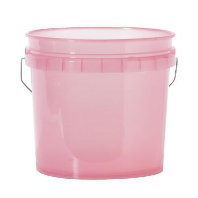 Leaktite 3.5 Gal. Red Translucent Pail