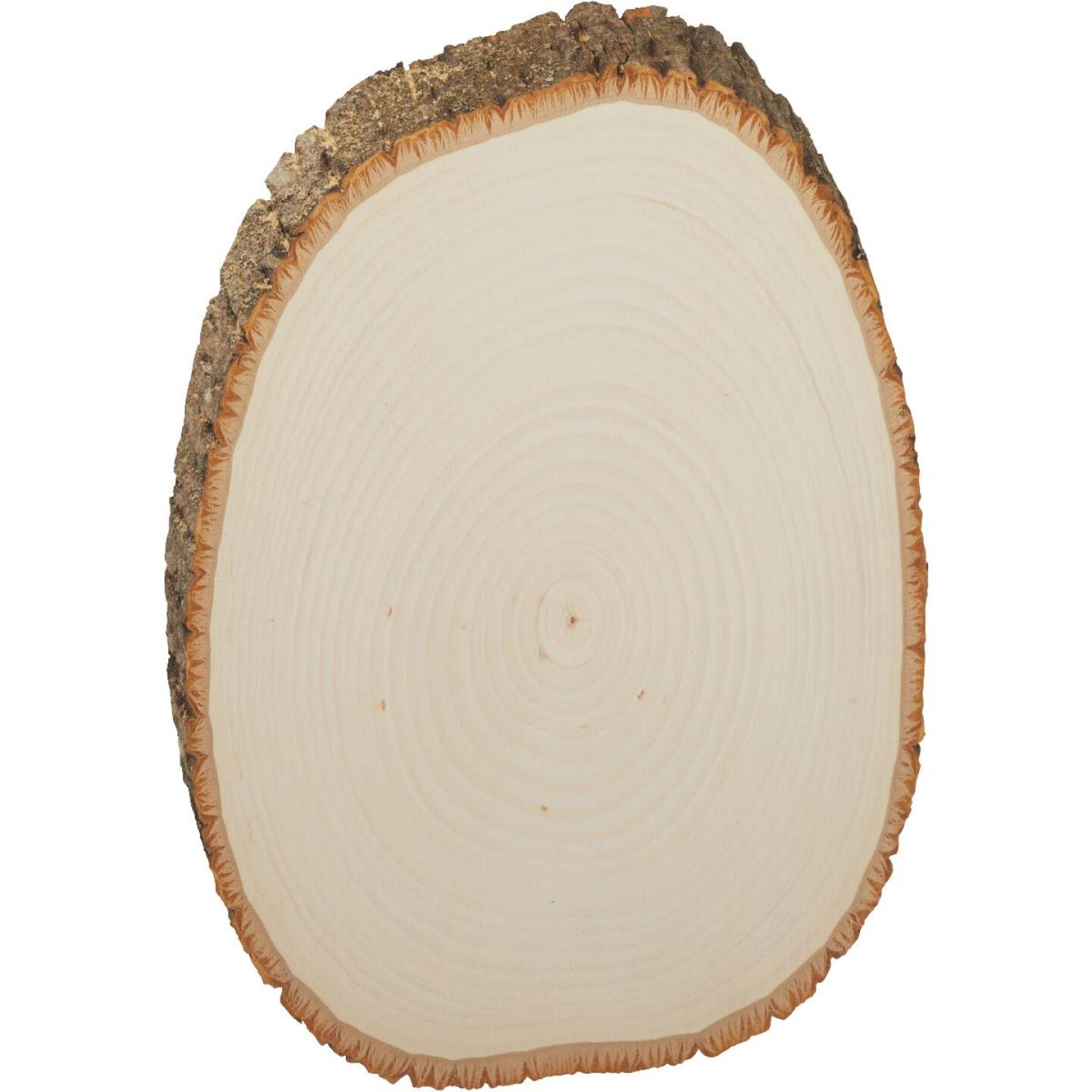 Walnut Hollow Basswood Country Rounds 7 to 9 In. Oval Live Edge Circle Plank Image 1