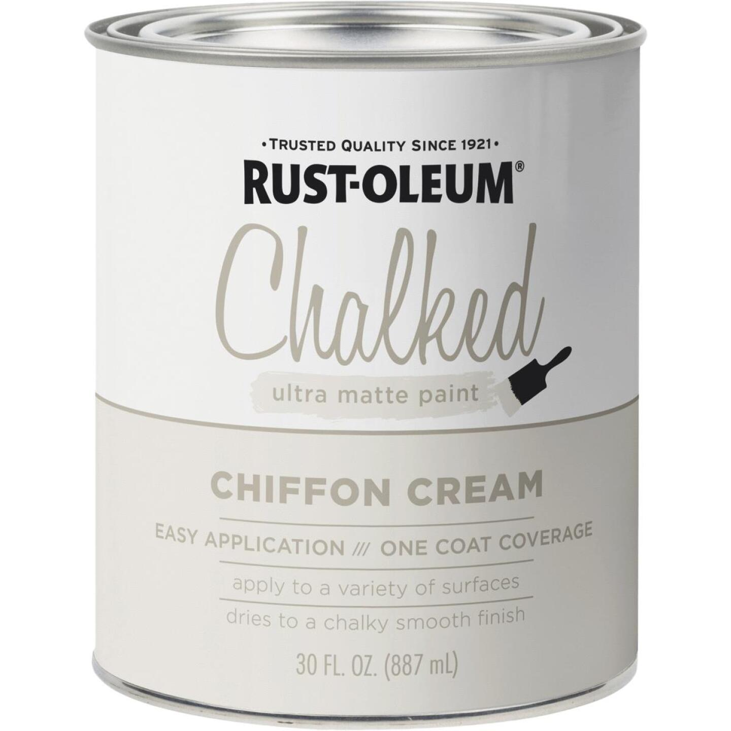 Rust-Oleum Chalked Ultra Matte Chiffon Cream 30 Oz. Chalk Paint Image 1