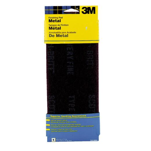 3M 4-1/2 In. x 11 In. Metal Finishing Abrasive Stripping Pad