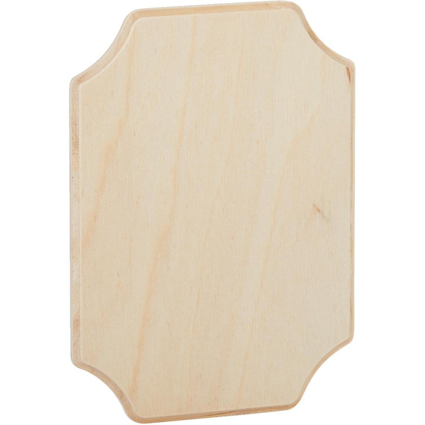 Walnut Hollow 5.25 In. x 7.25 In. French Corner Unfinished Wood Plaque Image 1