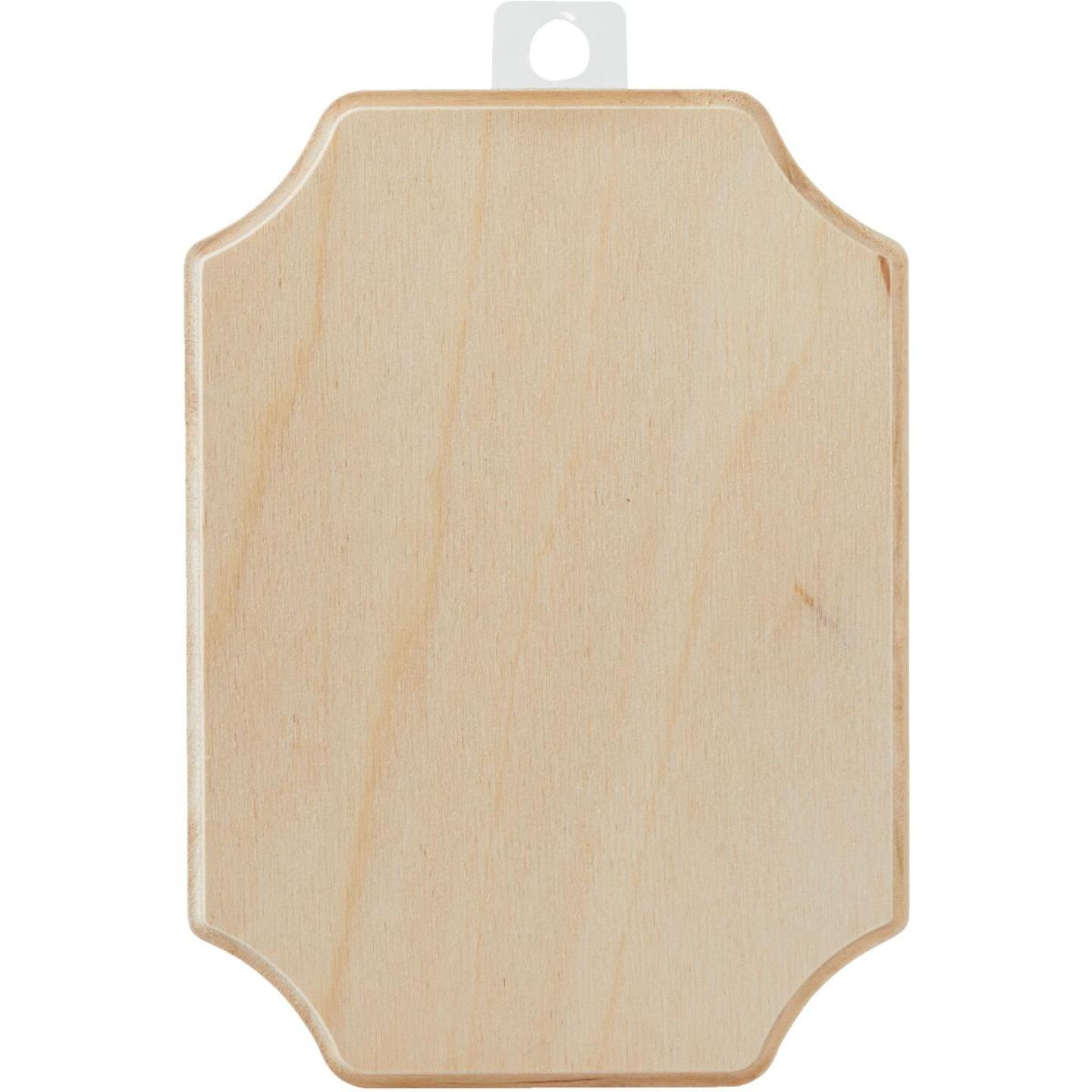 Walnut Hollow 5.25 In. x 7.25 In. French Corner Unfinished Wood Plaque Image 2