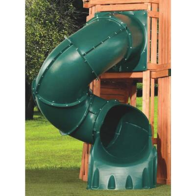 Swing N Slide 5 Ft. L. Green Polyethylene Tube Slide