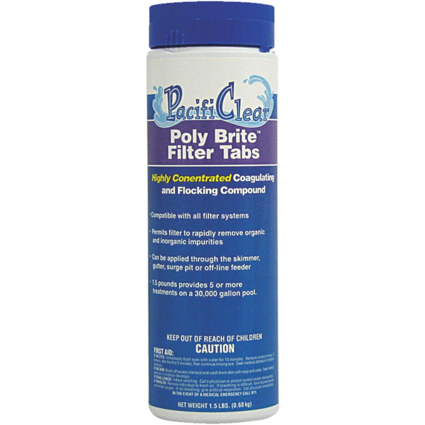 PacifiClear Poly Brite 1.5 Lb. Filter Clarifier Tablet Image 1