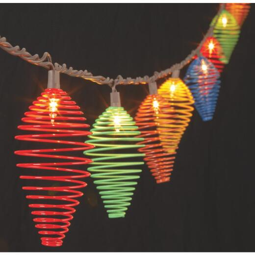 Everlasting Glow 8.5 Ft. 10-Light Multi-Color Teardrop Wire String Lights