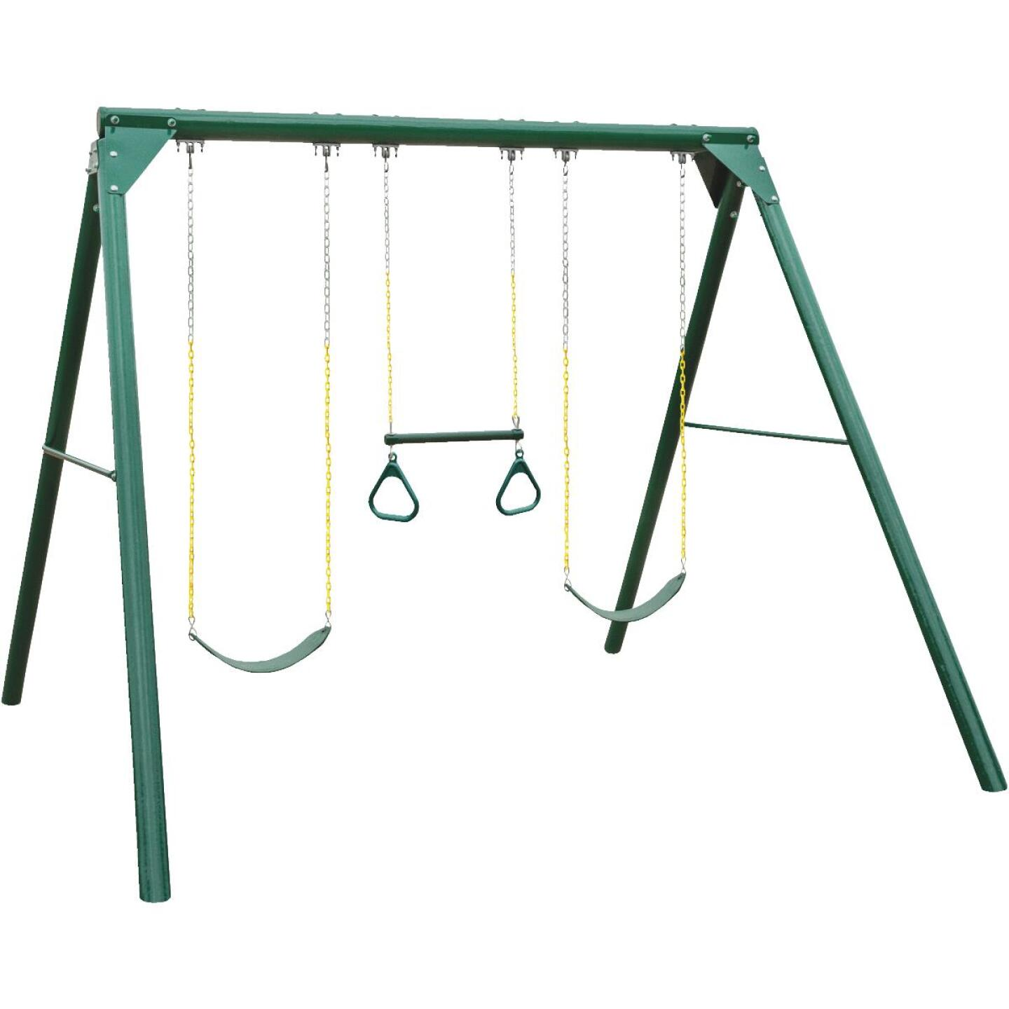 Swing N Slide Wood Complete Orbiter Swing Set Kit Image 1