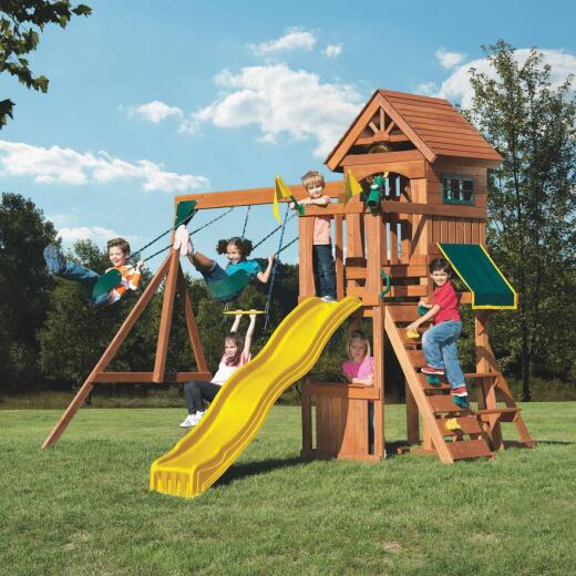 Swing N Slide Wood Complete Jamboree Fort Swing Set Kit