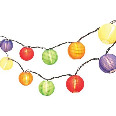 Gerson 8.5 Ft. 10-Light Multi-Color Lantern String Lights