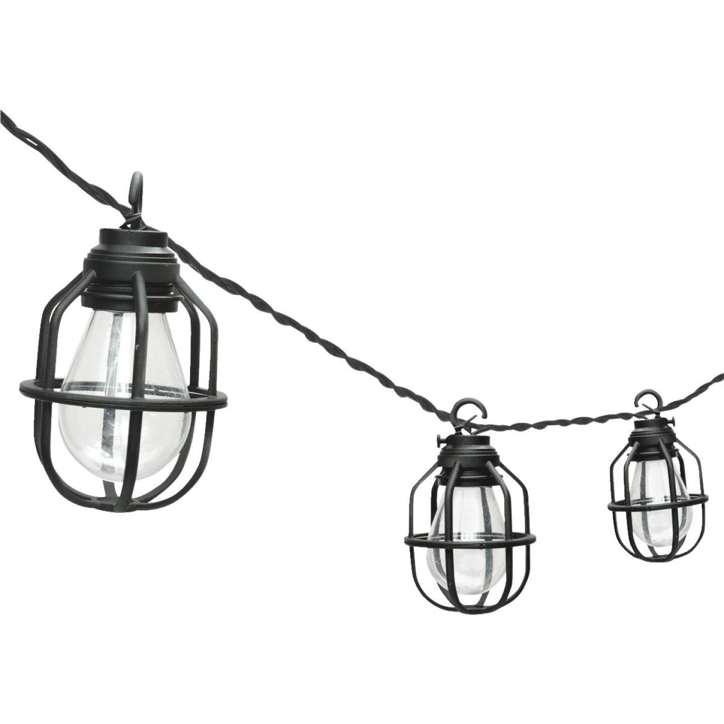 Paradise 10.5 Ft. 10-Light Warm White Black Lantern String Lights Image 1