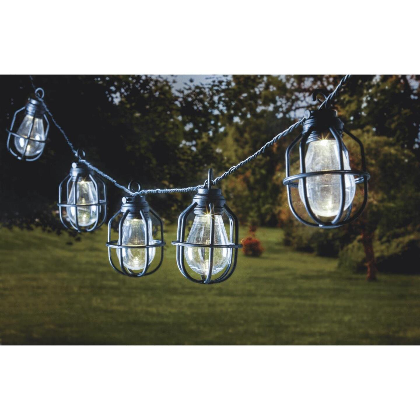 Paradise 10.5 Ft. 10-Light Warm White Black Lantern String Lights Image 3