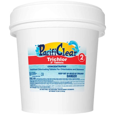 PacifiClear 3 In. 10 Lb. Trichlor Chlorine Tablet