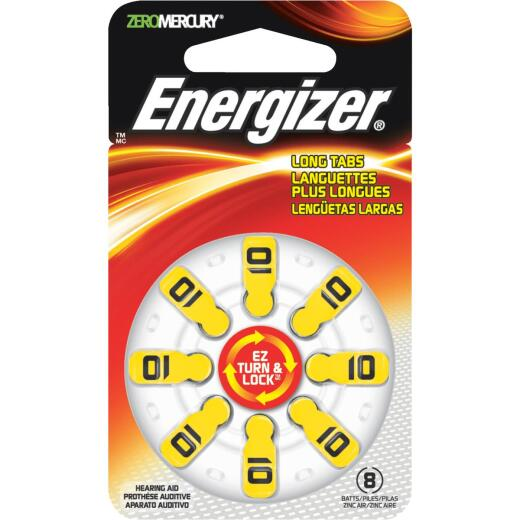 Energizer EZ Turn & Lock 10 Hearing Aid Battery (8-Pack)