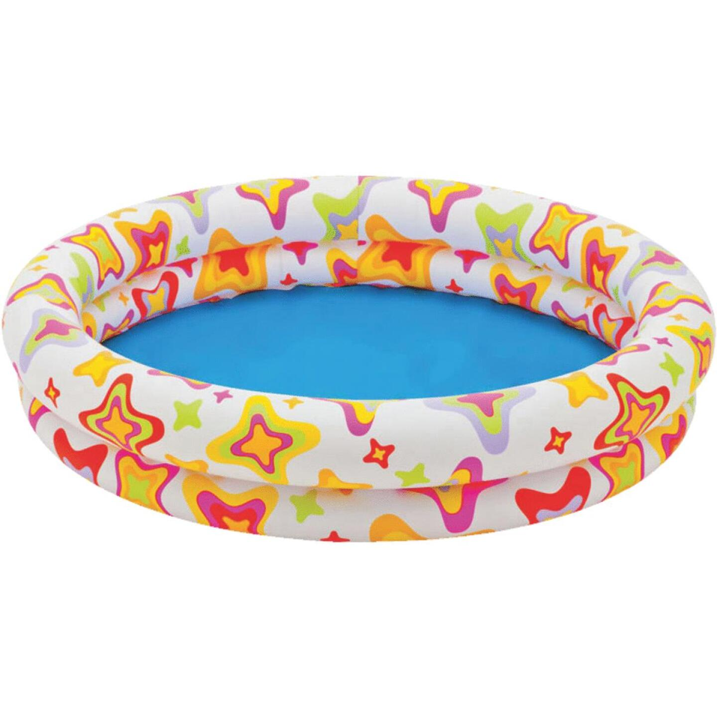 Intex 10 In. D. x 48 In. Dia. Multi-Colored Vinyl Inflatable Circle Fun Pool Image 1