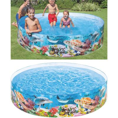 Intex 18 In. D. x 8 Ft. Dia. Polyethylene Deep Blue Sea Snapset Pool