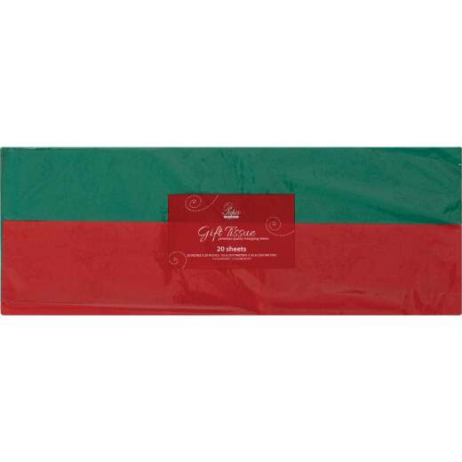 Paper Images 20-Sheet Red & Green Tissue Paper