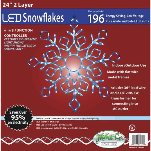 J Hofert 24 In. LED Lighted Snowflake
