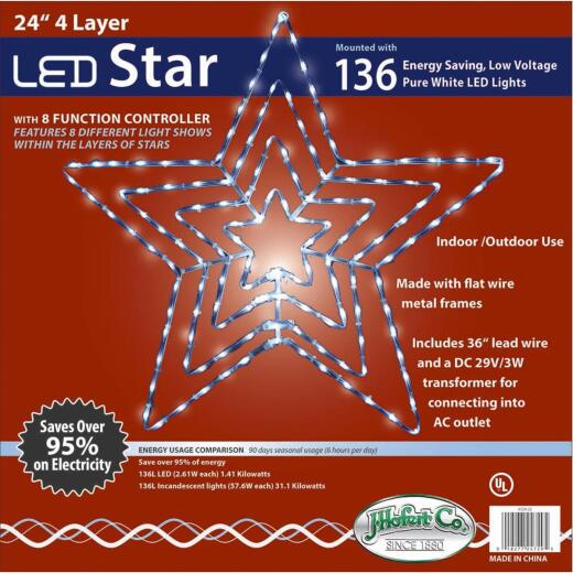J Hofert 24 In. LED Lighted Star