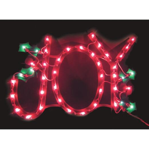 J Hofert 18 In. Incandescent Lighted Joy Decoration