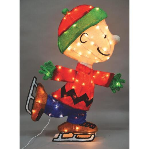 Product Works Peanuts 32 In. Incandescent Skating Charlie Brown Holiday Figure