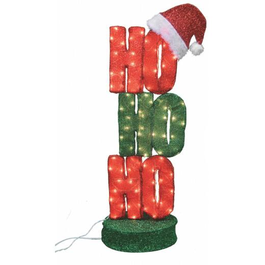 Product Works Candy Cane Lane 42 In. Incandescent Lighted HOHOHO Decoration